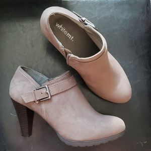 WhiteMt. Ankle Booties